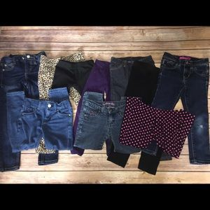 Girls size 4T / 4 Pants Bottoms Jeans Lot 10 Pairs